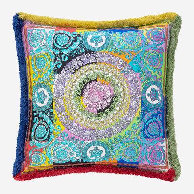 VERSACE HOME Coussin en soie patchwork Barocco - Multicolore