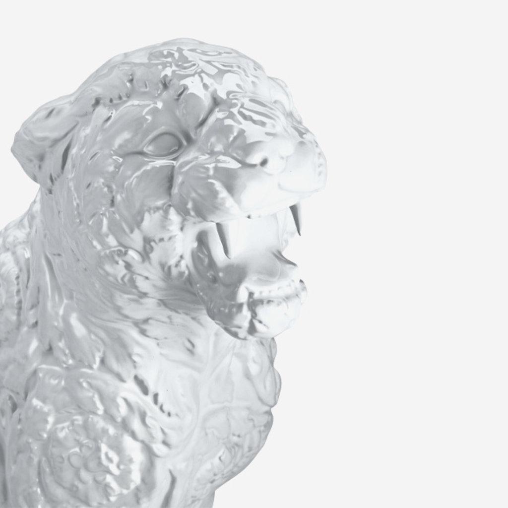 VERSACE HOME Large Rokko Cheetah  - White