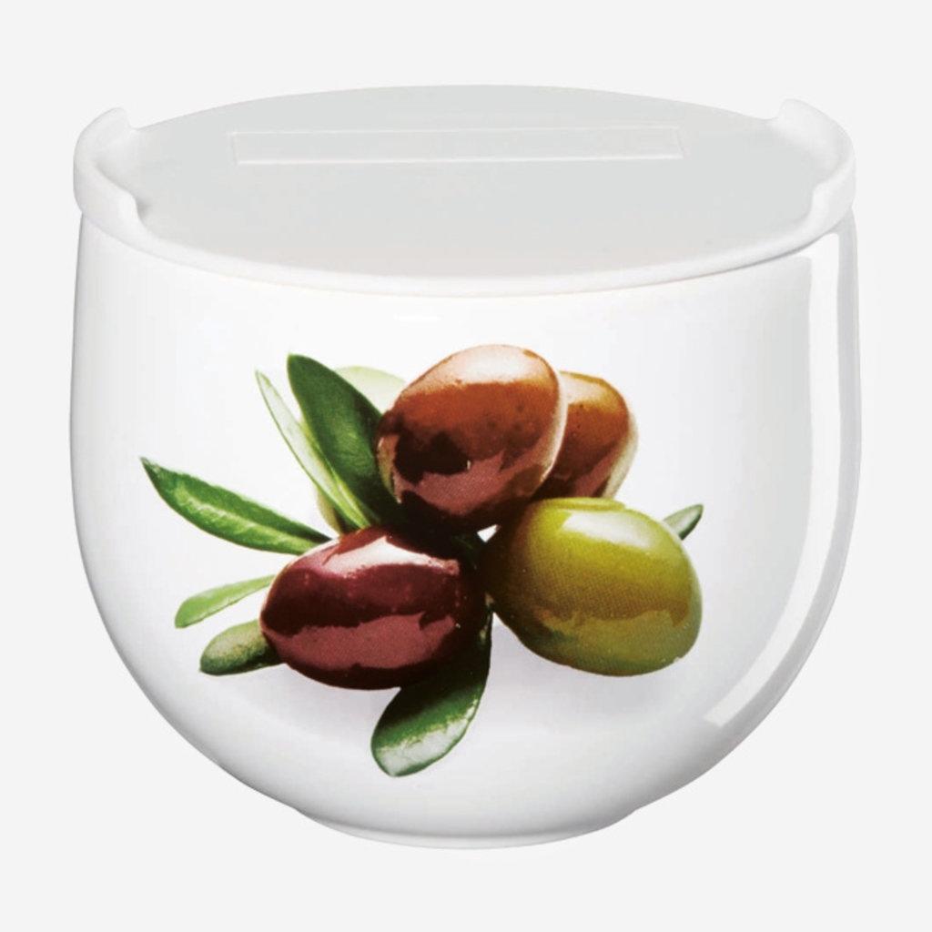 ASA GERMANY  Grande jarre à olives avec couvercle - Blanc