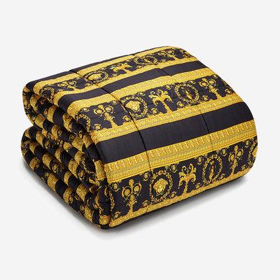 VERSACE HOME I Love Baroque Comforter - Black, White & Gold