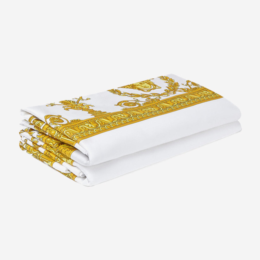 VERSACE HOME I Love Baroque Pillow Sham Set of 2 - King Size - White & Gold