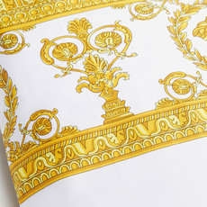VERSACE HOME I Love Baroque Pillow Sham Set of 2 - Queen Size - White & Gold