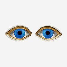 JONATHAN ADLER Eye Trinket Trays - Blue, Gold, White