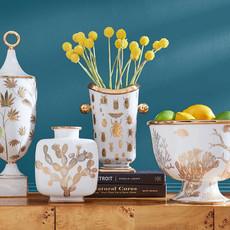 JONATHAN ADLER  Vase à spécimens Botanist - blanc, or
