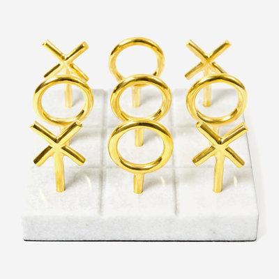 JONATHAN ADLER Brass Tic Tac Toe Set - Gold
