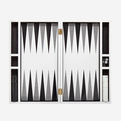 JONATHAN ADLER Set de Backgammon Op Art - Noir/Blanc