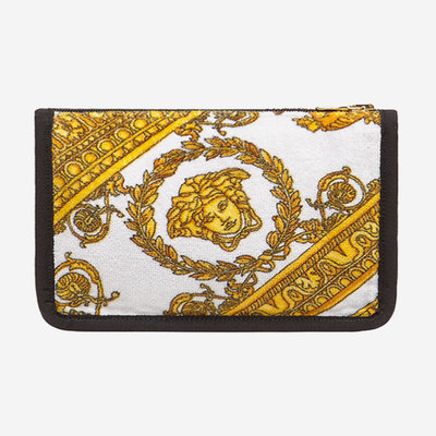 VERSACE HOME I Love Baroque Large Pouch - White, Gold & Black
