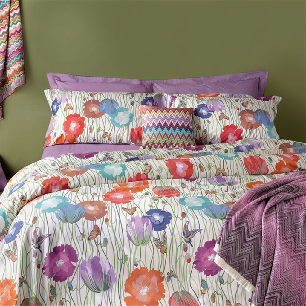 """MISSONI HOME Jo Fitted Sheet King 78""""x80""""x14"""" Colour 23M"""