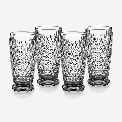 VILLEROY & BOCH Boston Highball Glasses Set of 4 - Clear