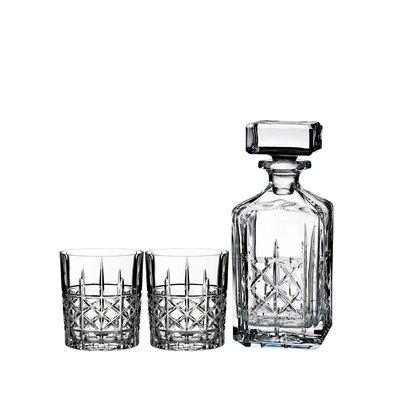 WATERFORD Brandy Decanter & DOF Tumbler Set of 2