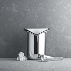GEORG JENSEN Wine & Bar Ice Bucket with Tongs - Silver