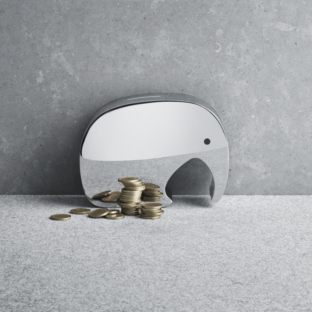 GEORG JENSEN  Moneyphant Money Box - Silver