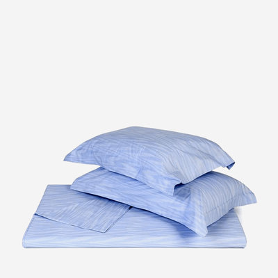 "MISSONI HOME Angie King Size Linen Flat Sheet 112""x104"" - Blue"