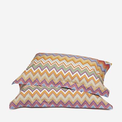 "MISSONI HOME Andres King Size Pillow Sham Set - 2 Pcs 20""x36"" - Zig Zag Pattern 159"