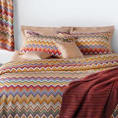 "MISSONI HOME Andres Standard Pillow Sham Set - 2 Pcs 20""x26"" - Zig Zag Pattern 159"