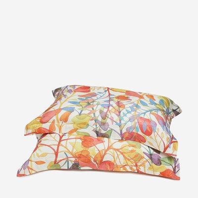 """MISSONI HOME Abbie Standard Pillow Sham Set - 2 Pcs 20""""x26"""" - Multicolour Leaf Print"""