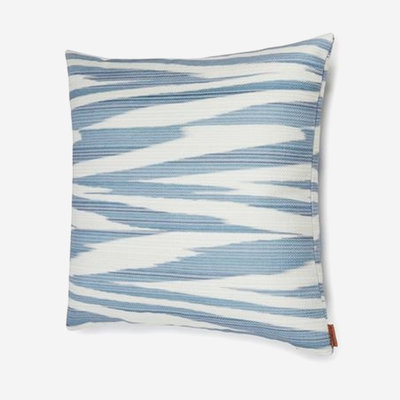 "MISSONI HOME Atacama Outdoor Cushion 20""x20"" - Blue & White"
