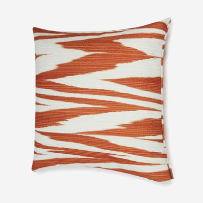 "MISSONI HOME Atacama Outdoor Cushion 20""x20"" - Orange & White"