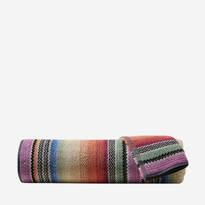 "MISSONI HOME Archie Hand Towel 16""x27""-  Stripe Zig Zag Pattern 159"