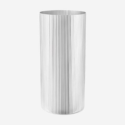 GEORG JENSEN GEORG JENSEN Bernadotte Vase, Large Stainless Steel H: 10.08in D: 4.72in