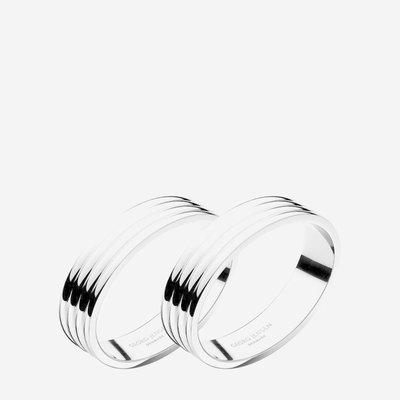 GEORG JENSEN Bernadotte Napkin Rings Set of 2 - Silver