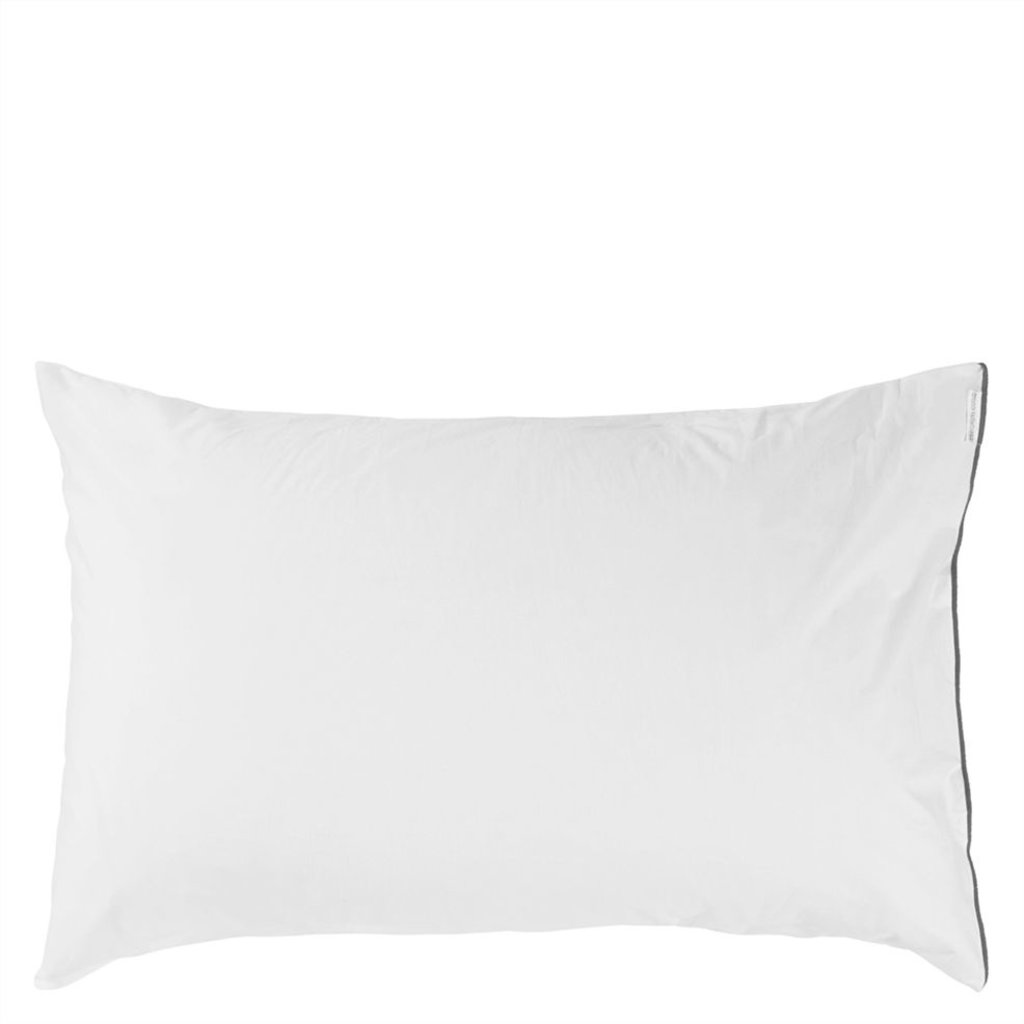 DESIGNERS GUILD Astor Charcoal & Dove Queen Pillowcase 75X50Cm