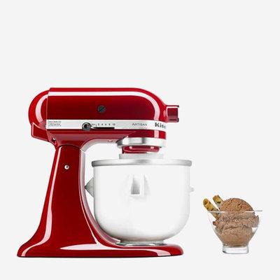 KITCHENAID White Ice Cream Maker Attachment
