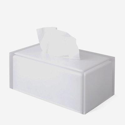 JONATHAN ADLER Hollywood Long Tissue Box Clear