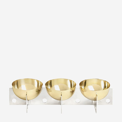 JONATHAN ADLER Berlin Petite Serving Bowls Brass / Stainless Steel