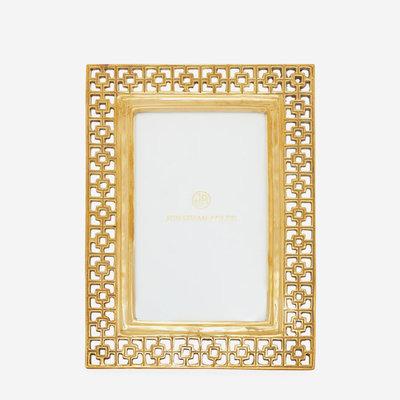 JONATHAN ADLER Brass Nixon Picture Frame Brass 4 x 6''