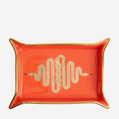 JONATHAN ADLER Snake Valet Tray - Orange, Gold