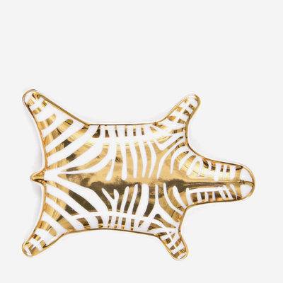 JONATHAN ADLER Zebra Dish - Gold/White