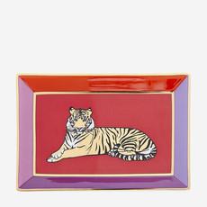 JONATHAN ADLER Safari Rectangle Tray - Purple, Red, Gold