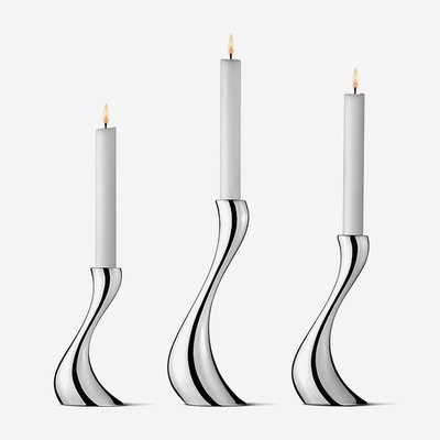 GEORG JENSEN Cobra Stainless Steel Candle Holder - Set of 3