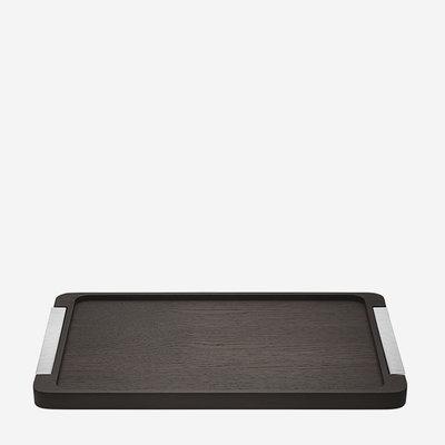 GEORG JENSEN Bernadotte Smoked Oak & Stainless Steel Tray