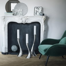 GEORG JENSEN  Cobra Medium Floor Candleholder - Silver