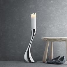 GEORG JENSEN  Cobra Small Floor Candleholder - Silver