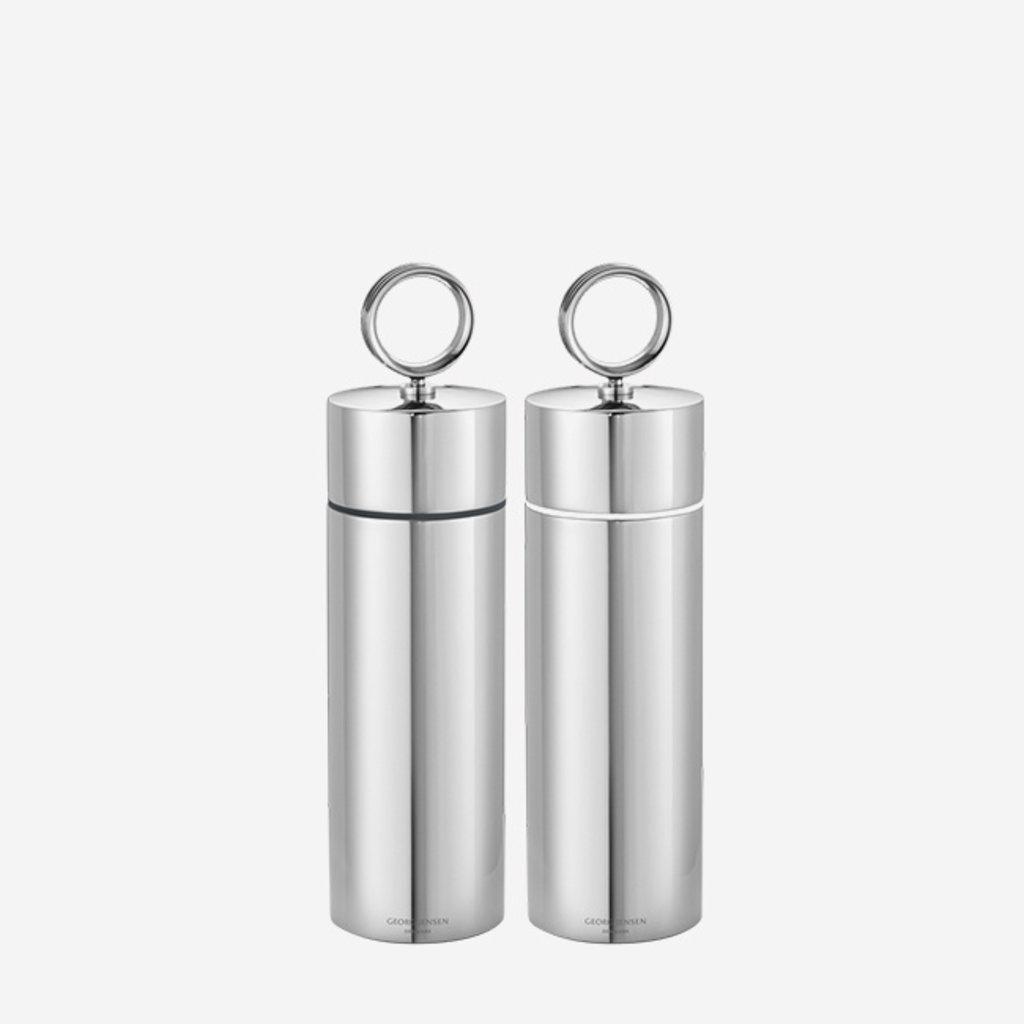GEORG JENSEN  Bernadotte Salt & Pepper Grinder Set - Silver