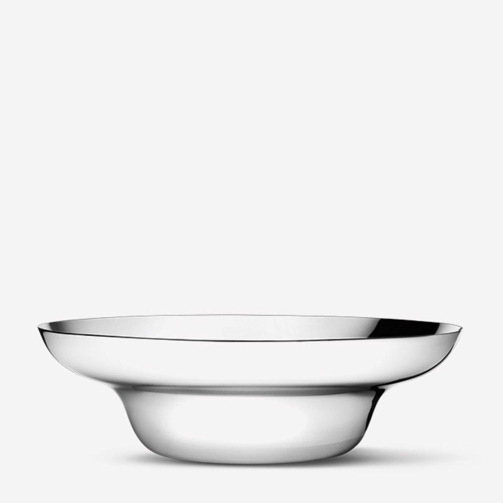 GEORG JENSEN Alfredo Salad Bowl & Salad Server Set - Silver