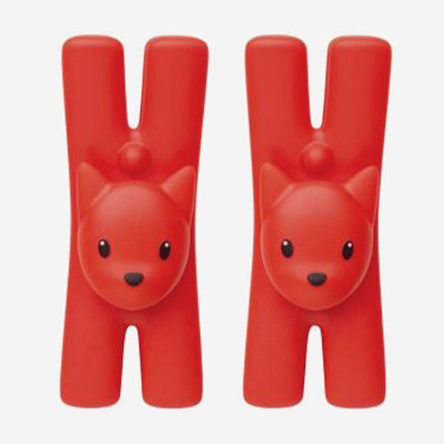 ALESSI Lampo Clip Set of 2 - Red Orange