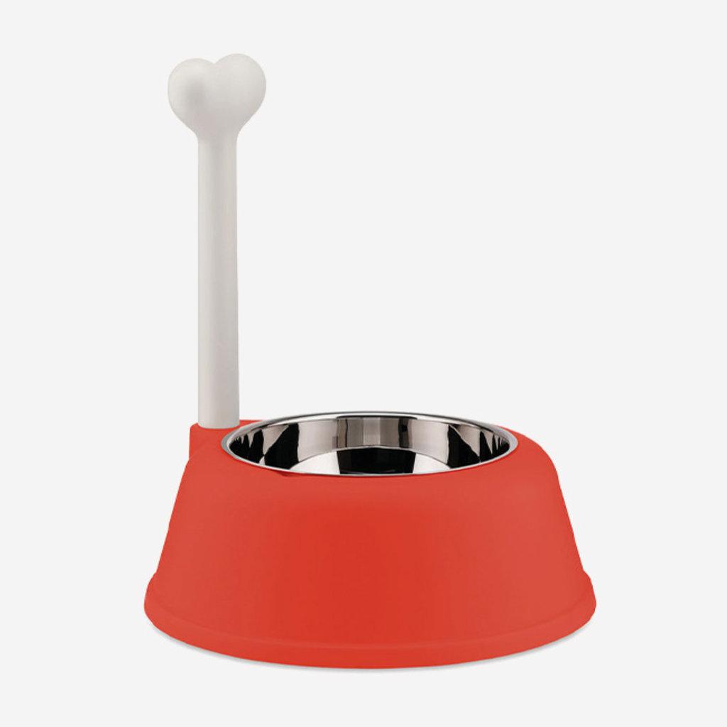 ALESSI Lupita Dog Bowl - Red Orange
