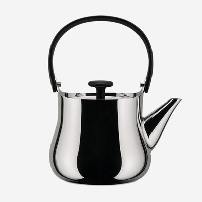 ALESSI Cha Stovetop Kettle - Silver & Black