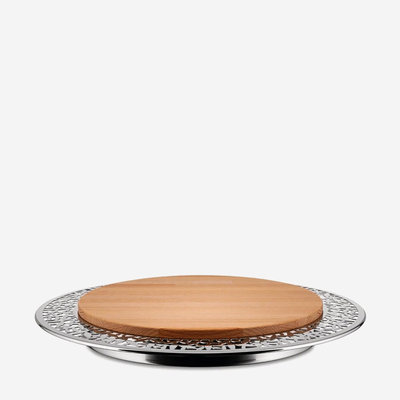ALESSI Cactus Cheese Board - Silver & Brown