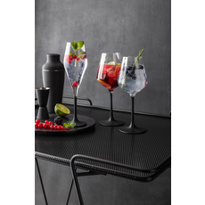 VILLEROY & BOCH Manufacture Rock Champagne Flute Set of 4 - Clear Black
