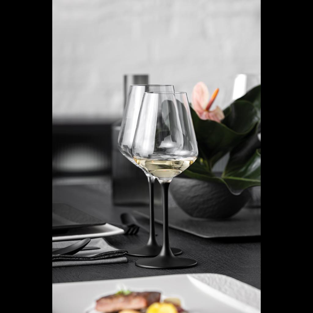 VILLEROY & BOCH Manufacture Rock Red Wine Glasses Set of 4 - Clear Blck
