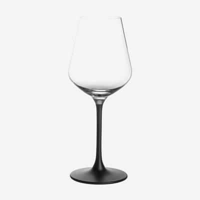 VILLEROY & BOCH Manufacture Rock Red Wine Glasses Set of 4 - Clear Black