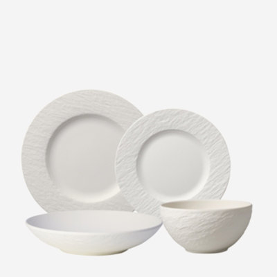 VILLEROY & BOCH Manufacture Rock 4pc Dinnerware Set - White