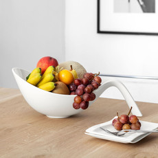 VILLEROY & BOCH Flow Small Salad Bowl with Handle - White