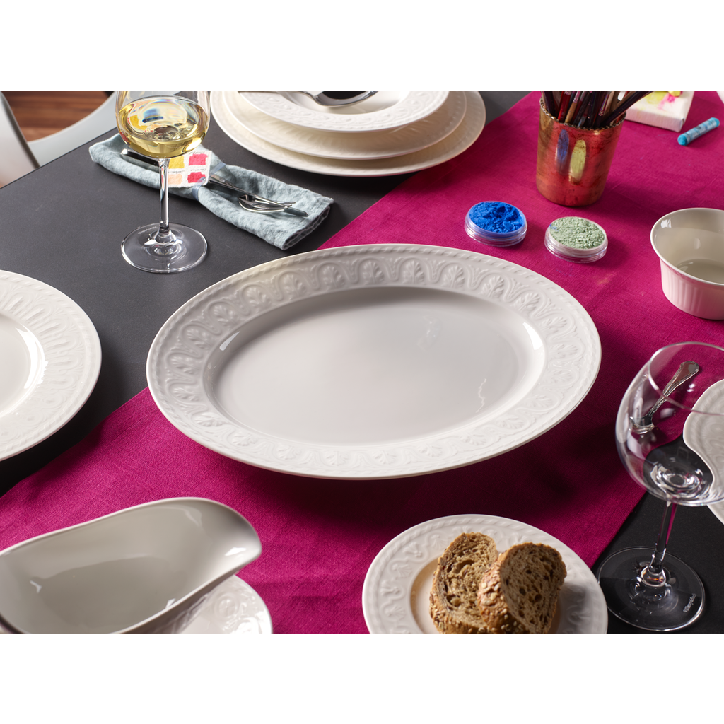 VILLEROY & BOCH Cellini Large Oval Serving Platter - White