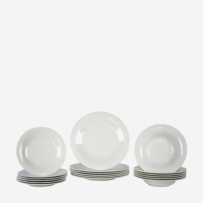 VILLEROY & BOCH New Cottage Basic 18 Pc Dinnerware Set - White